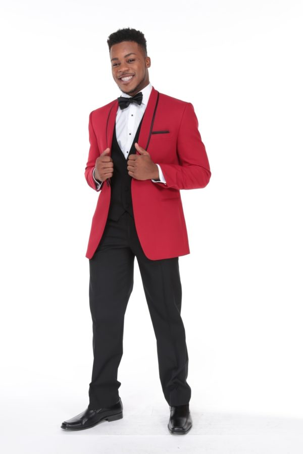 Ike Behar Evening Red Shawl