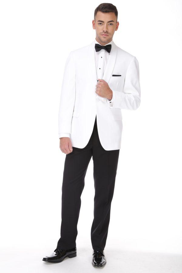 Modern White Dinner Jacket