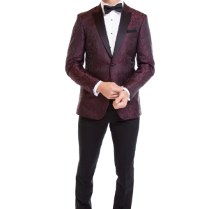 Mark of Distinction Burgundy Paisley